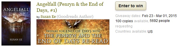 Book Giveaway For Angelfall (Penryn & the End of Days, #1)